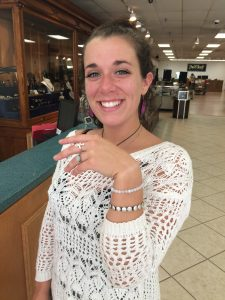 Molly Byrne wearing her Good Fortune Jewelry!